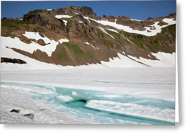 Wa, Goat Rocks Wilderness, Melt Water Greeting Card