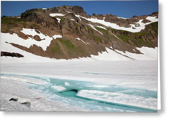 Wa, Goat Rocks Wilderness, Melt Water Greeting Card