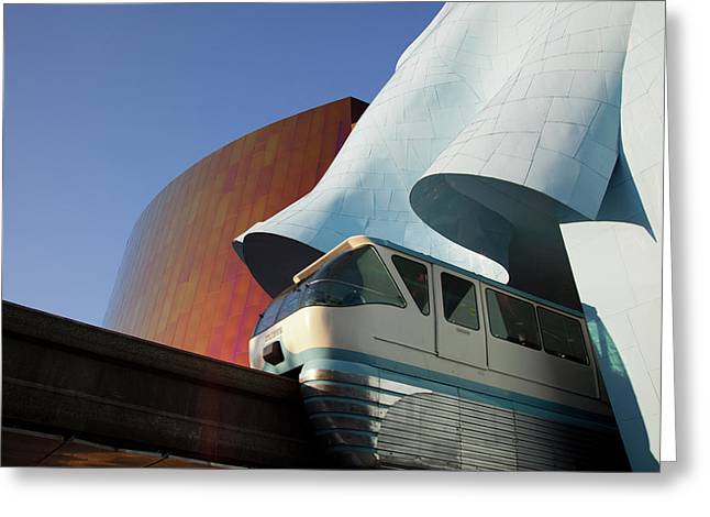 Wa, Seattle, Seattle Center, Monorail Greeting Card