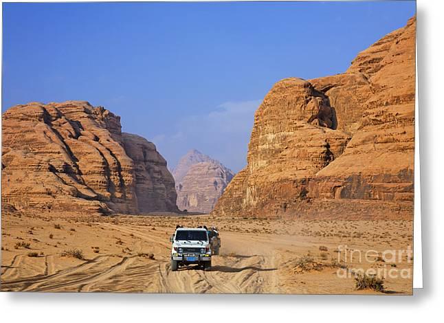 Wadi Rum In Jordan Greeting Card by Robert Preston