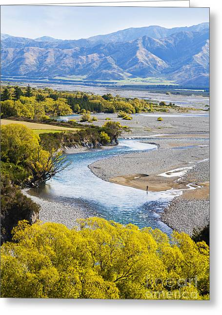 Waiau River Hanmer Springs New Zealand Greeting Card