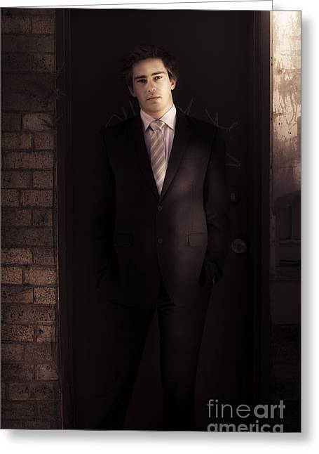 Waiter Greeting Card by Jorgo Photography - Wall Art Gallery