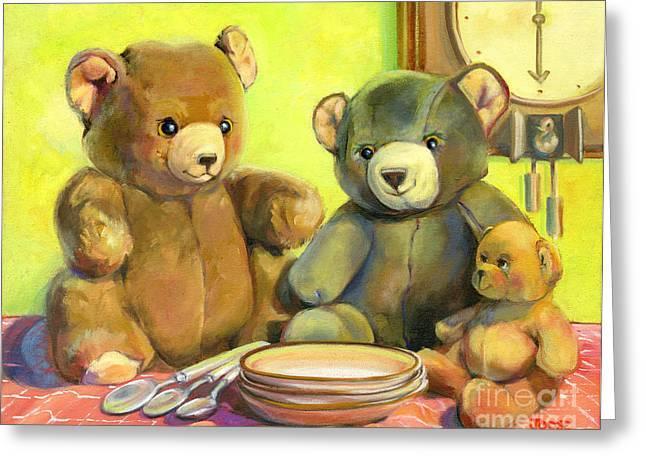 Waiting For Goldilocks Greeting Card by Joose Hadley