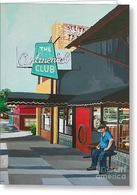 Waiting For Stevie Ray Greeting Card by Melinda Patrick