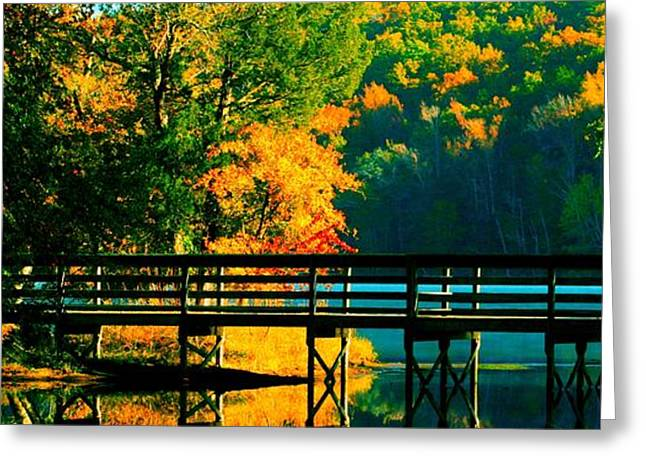 Greeting Card featuring the photograph Walkway by Steve Godleski