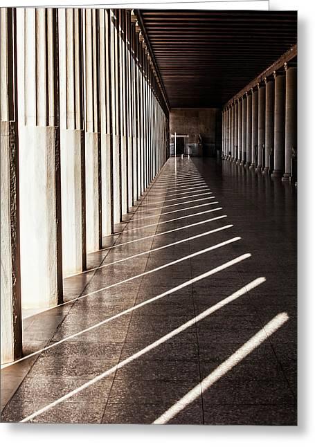 Walkway With Columns, Ancient Agora Greeting Card