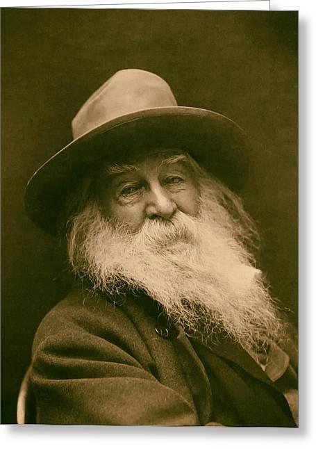 Walt Whitman 1886 Greeting Card