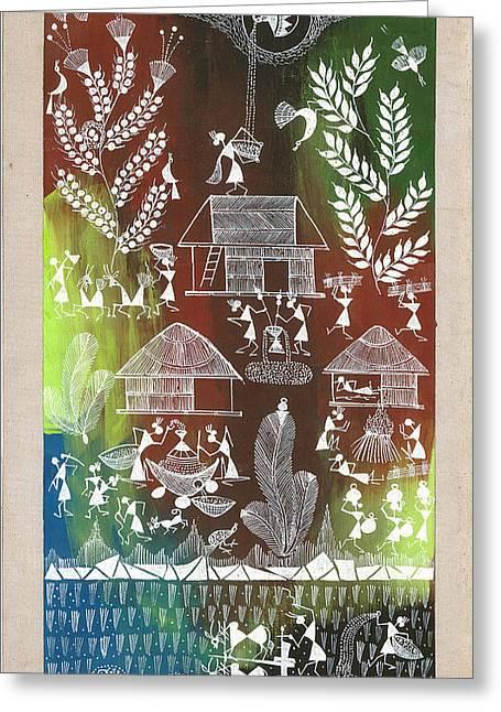 Village Greeting Card