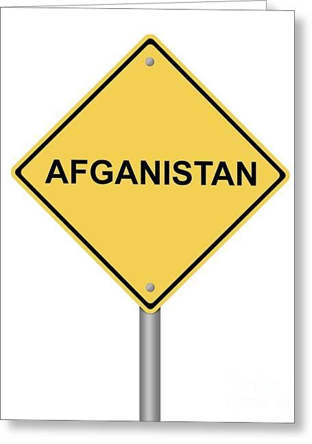 Warning Sign War Greeting Card