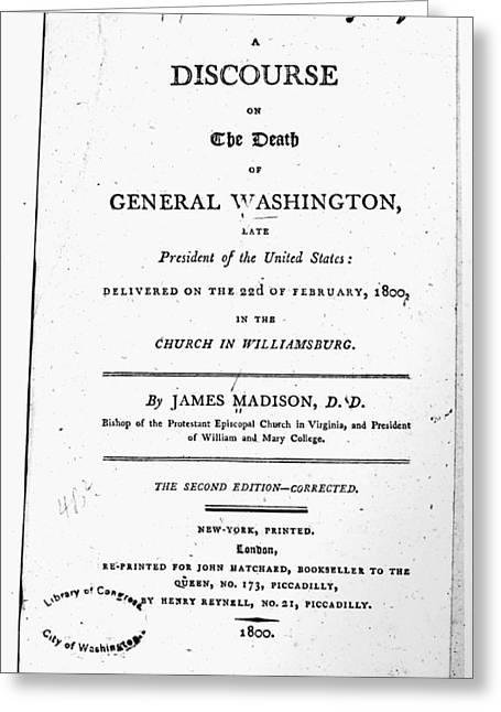 Washington Funeral Greeting Card
