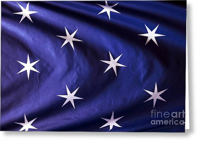 Washington's Flag Greeting Card by John Rizzuto