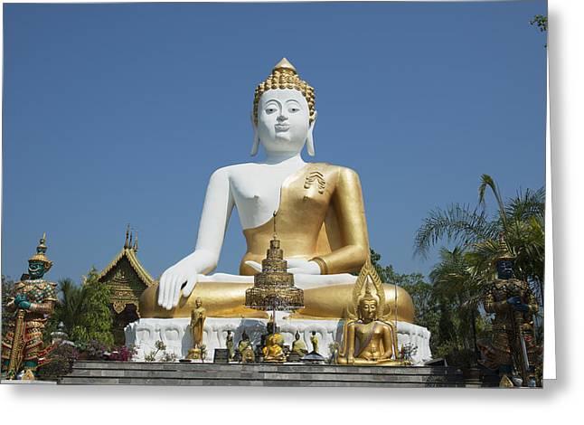 Wat Doi Kham Temple Buddha Chiang Mai Greeting Card by Stuart Corlett