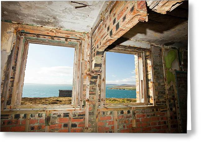 Watch Tower For A Gun Emplacement Greeting Card
