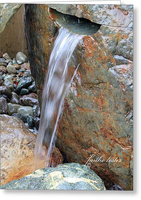 Water And Rocks II Greeting Card