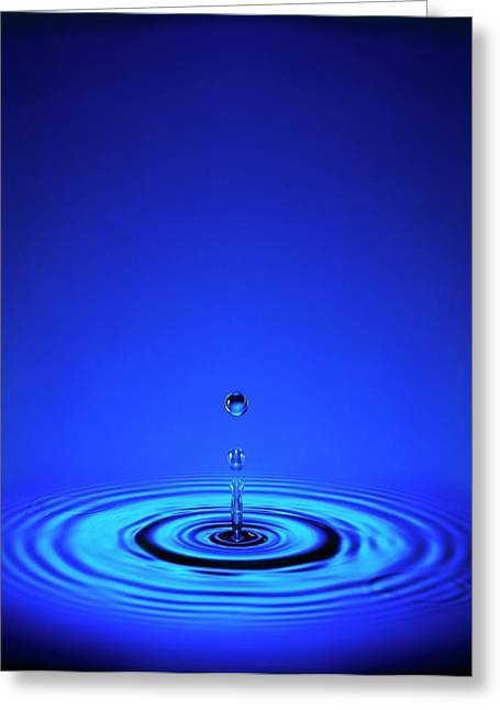 Water Drop Impact Greeting Card by Mark Sykes