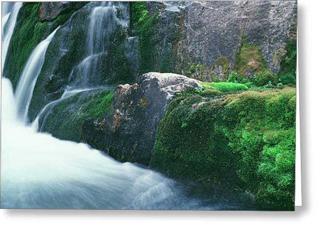 Water Falling From Rocks, South Fork Greeting Card