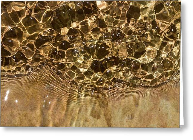 Water Ripples Greeting Card by Dr Juerg Alean