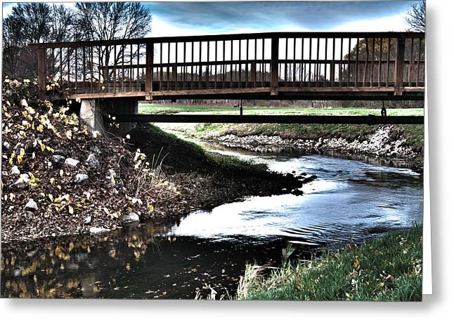 Greeting Card featuring the photograph Water Under The Bridge by Deborah Klubertanz