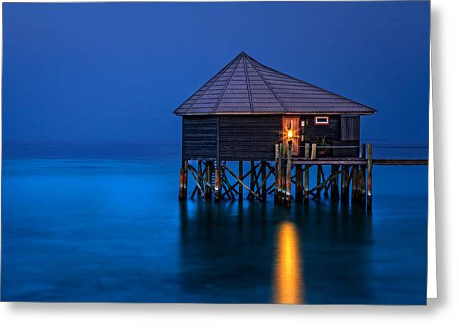 Water Villa In The Maldives Greeting Card