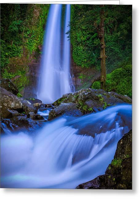 Waterfall - Bali Greeting Card