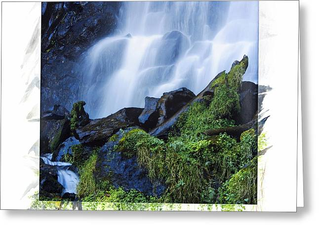 Waterfall Greeting Card by Bernard Jaubert