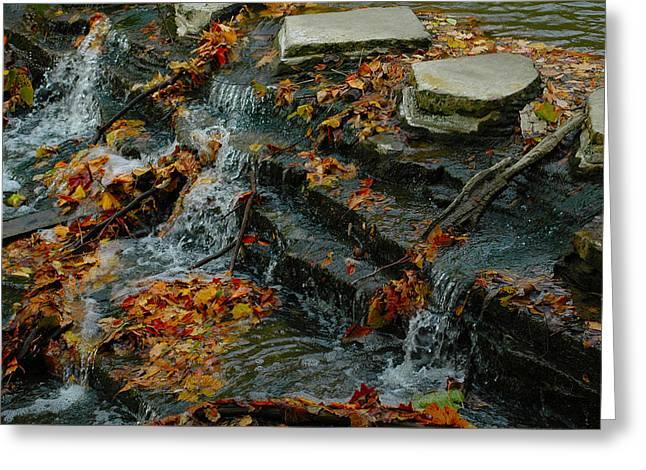 Waterfall Greeting Card by Gary Marx