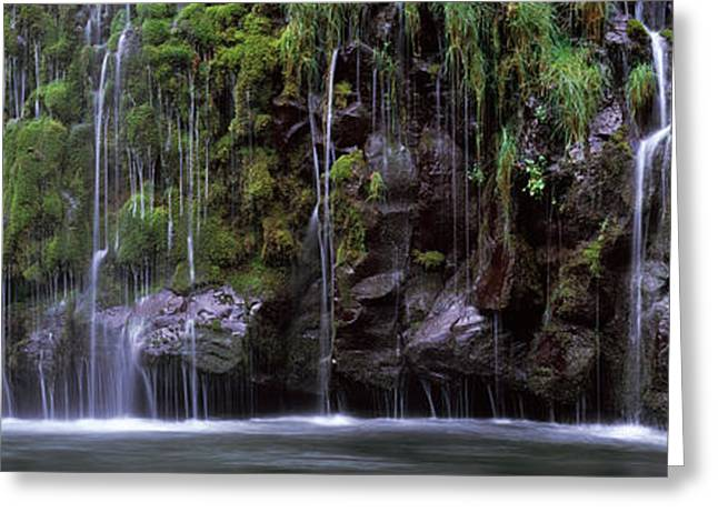 Waterfall, Mossbrae Falls, Sacramento Greeting Card by Panoramic Images
