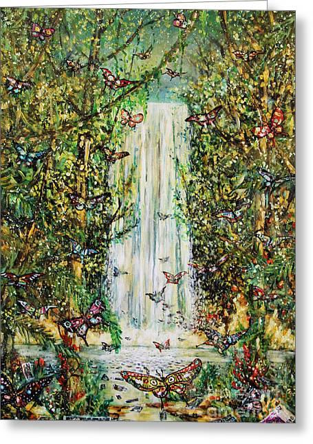 Waterfall Of Prosperity II Greeting Card