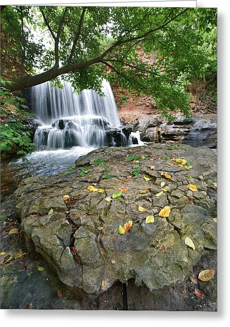 Waterfall Tanyard Creek Arkansas Greeting Card by Tim Fitzharris