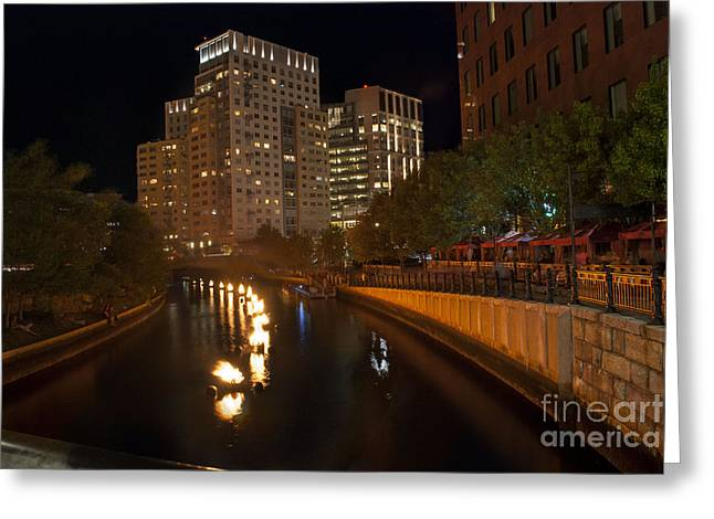Waterfire.  Providence Rhode Island Greeting Card by Juli Scalzi