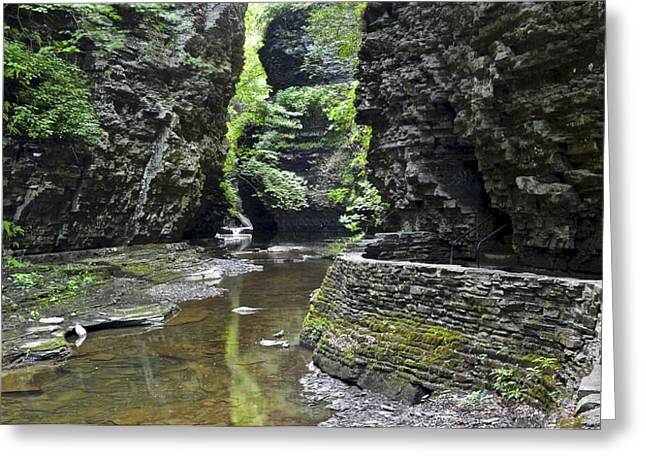 Watkins Glen Gorge Greeting Card by Frozen in Time Fine Art Photography