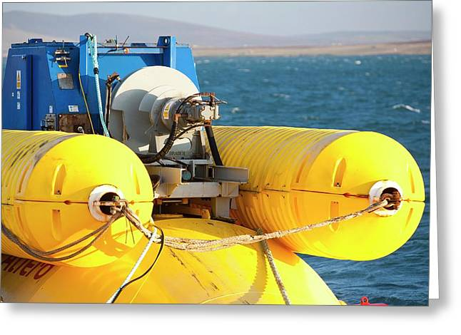 Wave Energy Generator Greeting Card
