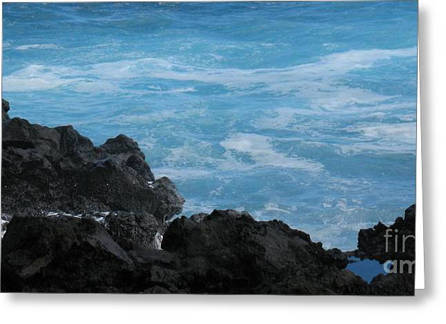 Wave - Vague - Ile De La Reunion - Reunion Island Greeting Card