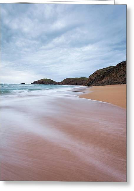 Waves Breaking At Murder Hole  County Greeting Card by Peter McCabe