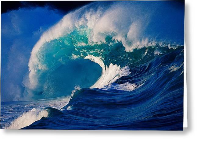 Waves Splashing In The Sea Greeting Card