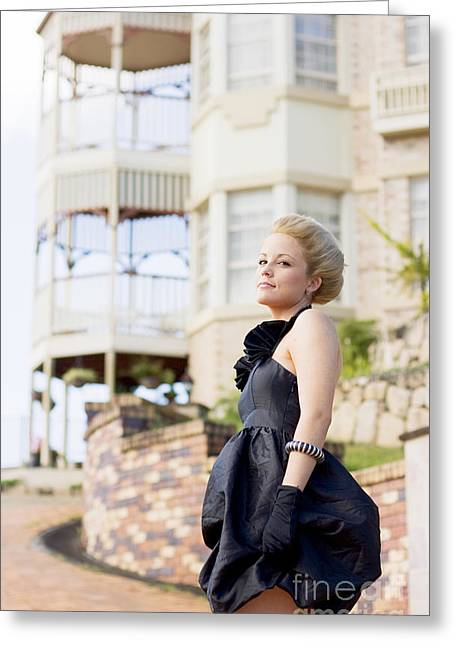 Wealthy Woman Greeting Card by Jorgo Photography - Wall Art Gallery