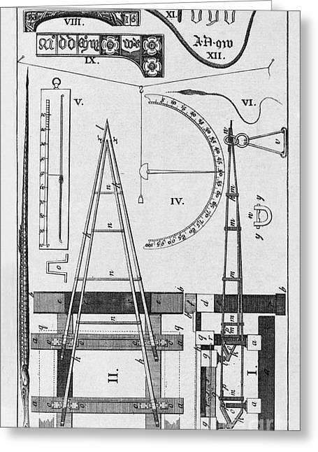 Weighbridge And Hygrometer, 18th Century Greeting Card by Middle Temple Library