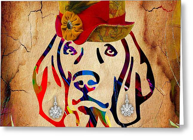 Weimaraner Collection Greeting Card