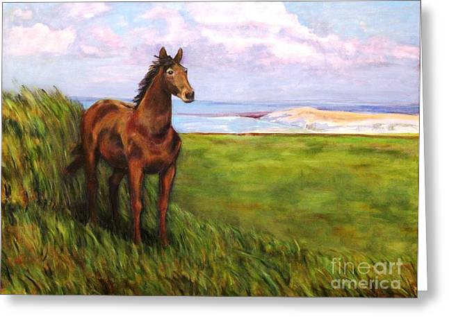 Welsh Breezes Greeting Card by Ellen Howell