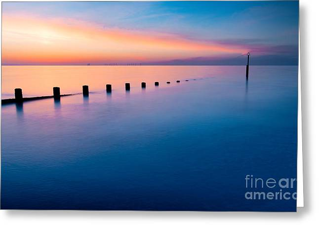Welsh Sunset Greeting Card by Adrian Evans