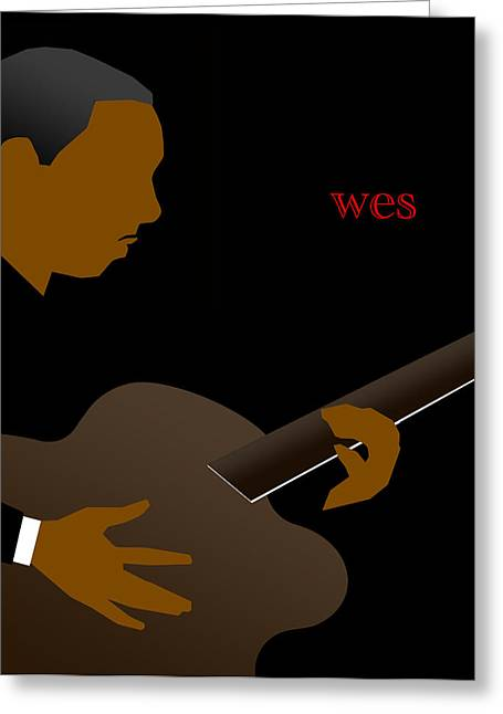 Wes Montgomery Greeting Card by Victor Bailey