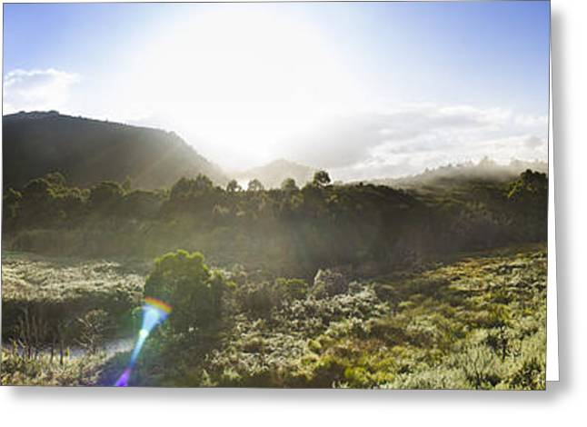 West Coast Range Landscape In Tasmania Australia Greeting Card by Jorgo Photography - Wall Art Gallery