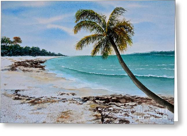 Greeting Card featuring the painting West Of Zanzibar by Sher Nasser