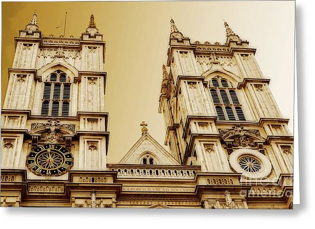 West Towers Of Westminster Abbey Greeting Card