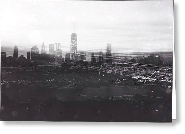 When The Lights Go Down In The City... Greeting Card by Natasha Marco