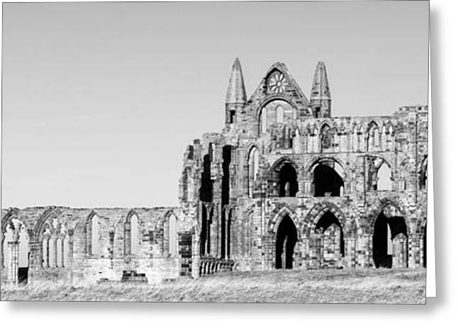 Whitby Abbey Panorama Greeting Card