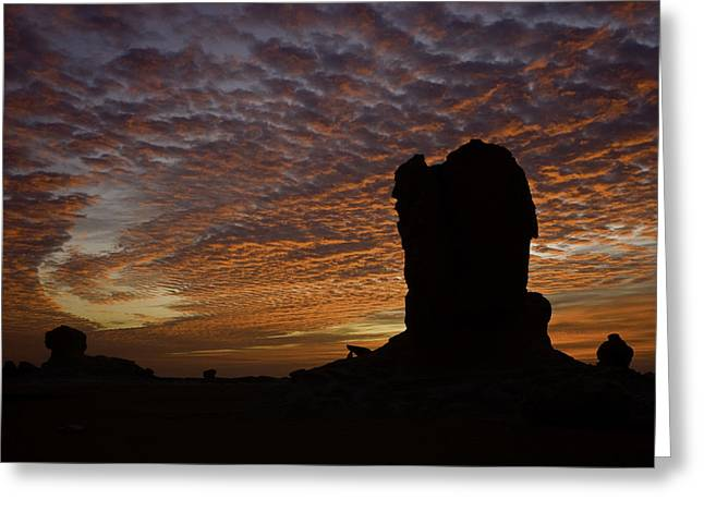 Greeting Card featuring the photograph White Desert Sunrise by Judi Baker