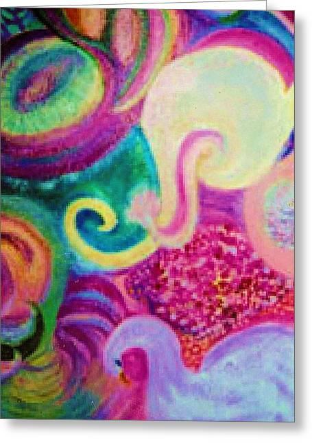 White Elephant Dreams Greeting Card by Anne-Elizabeth Whiteway