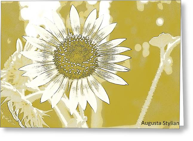 White Flowers Greeting Card by Augusta Stylianou
