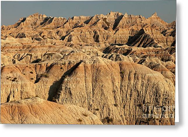 White River Valley Overlook Badlands National Park Greeting Card